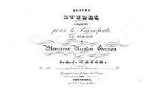 Four Etudes for Piano, Op.60: Four Etudes for Piano by Christopher Ernst Friedrich Weyse