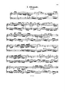 Allemande in A Minor, BWV 835: Allemande in A Minor by Johann Sebastian Bach