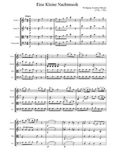 Allegro: Full score by Wolfgang Amadeus Mozart