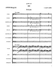Andromaque: Prelude to Act IV by Camille Saint-Saëns