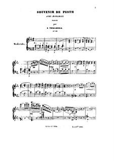 Souvenir de Pesth, Op.65: For piano by Sigismond Thalberg