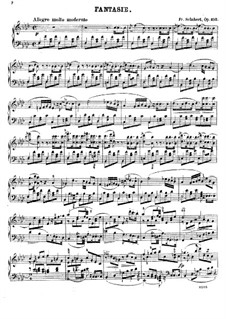 Fantasia for Piano Four Hands in F Minor, D.940 Op.103: Piano score by Franz Schubert