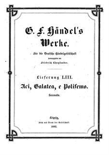 Aci, Galatea e Polifemo, HWV 72: Aci, Galatea e Polifemo by Georg Friedrich Händel