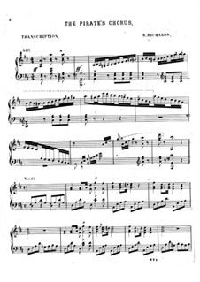Transcription of Popular Melodies: The Pirate's Chorus by Brinley Richards