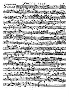 Sonata for French Horn and Piano, Op.17: Version for french horn (or cello) and piano – cello part by Ludwig van Beethoven