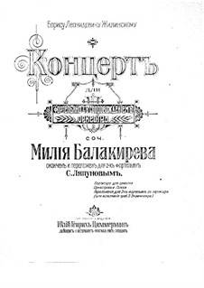 Concerto for Piano and Orchestra No.2 in E Flat Major, Op. posth.: Movement I by Mily Balakirev