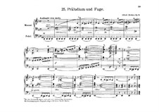 Prelude and Fugue in D Minor, Op.9: For organ by Albert Becker
