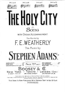 The Holy City: For voice and piano by Stephen Adams