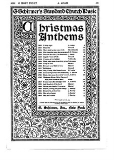O Holy Night (Piano-vocal score): For choir and organ by Adolphe Adam