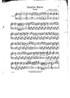 Saddle Back: Saddle Back by Thos. S. Allen
