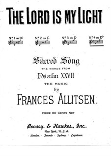 The Lord is My Light: For voice and piano by Frances Allitsen
