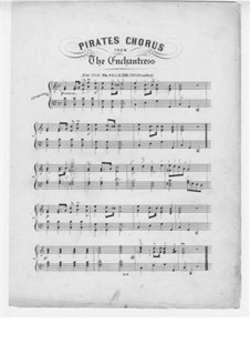 The Enchantress: Pirates Chorus, for Piano by Michael William Balfe