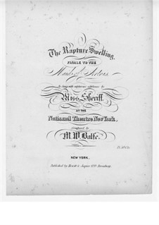 The Maid of Artois: Act III, The Rapture Swelling, for Voice and Piano by Michael William Balfe