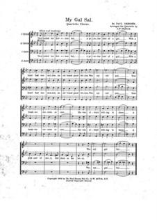 My gal Sal: Vocal score by Paul Dresser