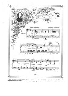 Gedenkblatt: Gedenkblatt by Theodor Kirchner