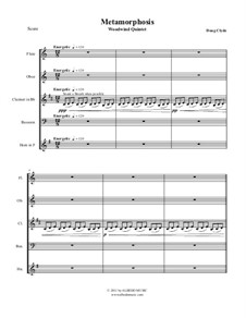 Metamorphosis: Woodwind quintet, AMSM38 by Doug Clyde