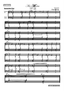 Ave Maria II, S.38: Vocal score by Franz Liszt
