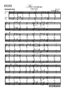 Ave Verum: Vocal score by Charles Gounod