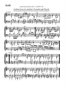 Liebster Jesu, wir sind hier (Vorspiel und Choral): Vorspiel und Choral by Johann Sebastian Bach