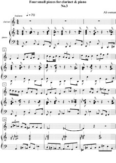 Four small pieces for clarinet and piano: Piece No.3 by Ali Osman