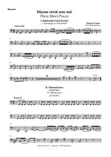 Three Short Pieces: Bassoon part by Dumitru Sapcu