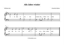 Alle Jahre wieder: Piano-vocal score by Friedrich Silcher