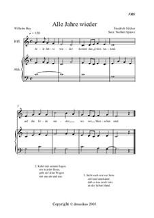 Alle Jahre wieder: Für Blockflöte und Akkordeon by Friedrich Silcher