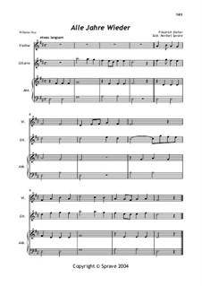 Alle Jahre wieder: For violin, guitar and accordeon by Friedrich Silcher
