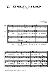 Kumbaya (Kum Ba Yah): For mixed choir by folklore