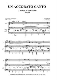 Cantique de Jean Racine, Op.11: For flute, choir and piano (or organ) by Gabriel Fauré