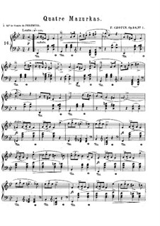 Mazurkas, Op.24: Complete set by Frédéric Chopin