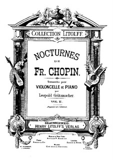 Nocturnes, Op.62: No.2, for cello and piano by Frédéric Chopin
