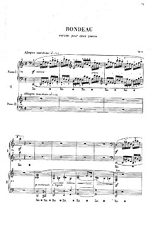 Rondo in C Major, Op.73: For two pianos four hands by Frédéric Chopin