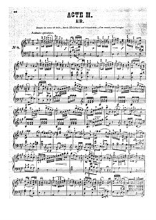 Fragments: Act II, for piano by Wolfgang Amadeus Mozart