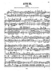 Fragments: Act III, for piano by Wolfgang Amadeus Mozart