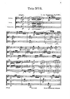 String Trio No.3 in G Major, Op.9 No.1: Full score by Ludwig van Beethoven
