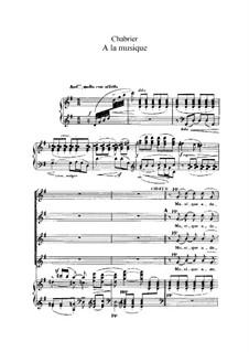 À la musique: Piano-vocal score by Emmanuel Chabrier