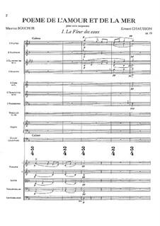 Poème de l'amour et de la mer, Op.19: Full score by Ernest Chausson