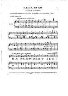 Il bacio (The Kiss): For voice and piano by Luigi Arditi