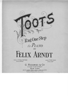 Toots: For piano by Felix Arndt
