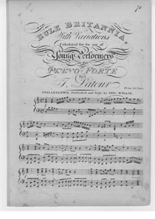 Rule Britannia: For piano by Thomas Augustine Arne