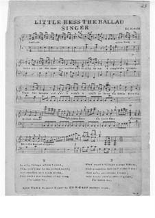 Little Bess the Ballad Singer: Little Bess the Ballad Singer by Samuel Arnold