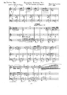 No.2 in C Sharp Minor, S.244: For two clarinets and bassoon by Franz Liszt