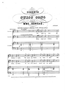 Swiss Song: Swiss Song by Karl Anton Florian Eckert