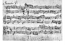 No.6 in E Major, BWV 777: Manuscript by Johann Sebastian Bach