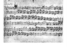 No.5 in E Flat Major, BWV 776: For harpsichord (Manuscript) by Johann Sebastian Bach