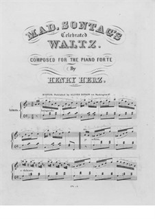 Mad. Sontag's Celebrated Waltz: For piano by Henri Herz