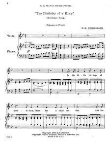 The Birthday of a King: In B Flat Major by William Harold Neidlinger