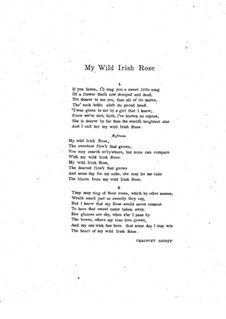 My Wild Irish Rose: In C Major by Chauncey Olcott