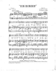 Ciribiribin: For voice and piano by Albert Pestalozza